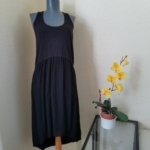 Anthropologie Left of Center Black Tulipan Dress